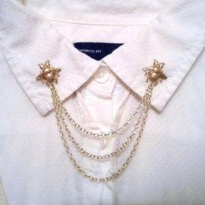 Gold Ber Collar Pins Collar Chain